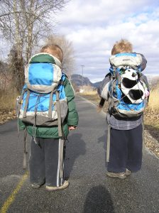 Backpacking kids